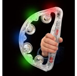Light up sensory tambourine
